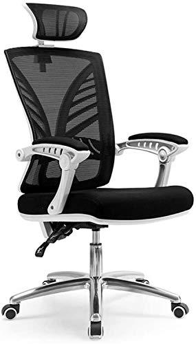 Silla de Oficina Giratoria Muebles respaldo medio Negro Malla giratoria adecuada for la tarea Silla de oficina, reclinada la hora del almuerzo silla de oficina silla transpirable, Gaming giratoria de