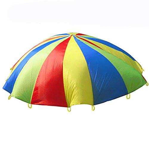 VORCOOL Kinder Schwungtuch Bunt Fallschirm Spielzeug für Gruppenspiel Kooperative Bewegung Spiele 1.1 Meter