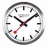 Mondaine SBB Smart stop2go Wall Clock - Aluminium - iOS / Android