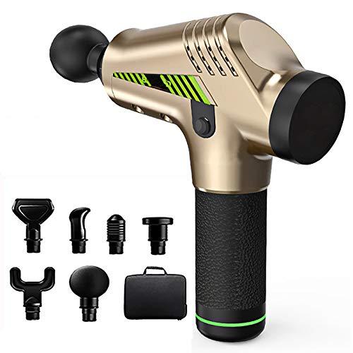 Preisvergleich Produktbild LXVY Massagepistole,  Massage Gun für Nacken Schulter Rücken Muskel Massagegerät Elektronische mit 6 Massageköpfen und 30 Geschwindigkeiten Vibrationsgerät, B
