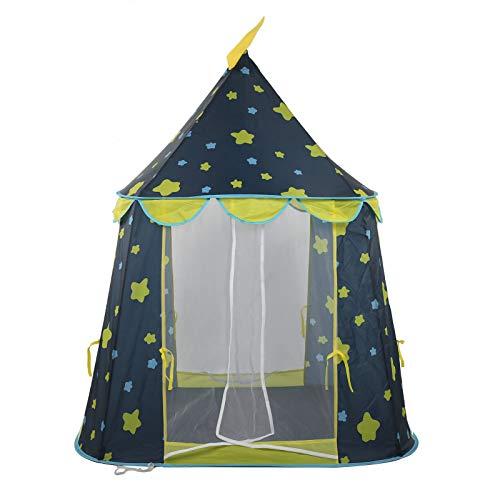 Ausla - Tienda de campaña de juegos para niños, castillo para niños, casa de juegos al aire libre, portátil con bolsa de transporte, 140 x 110 cm