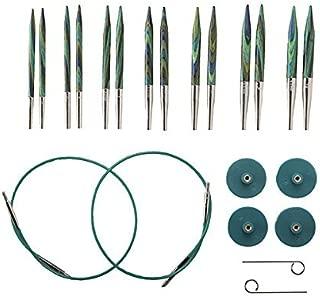 Knit Picks Options 2-3/4 Inch Short Tip Interchangeable Wood Knitting Needle Set (Caspian)
