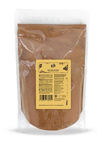 KoRo - Biologische Ceylon kaneel gemalen 500 g - specerij van topkwaliteit met een zeer laag coumarinegehalte zonder toevoegingen