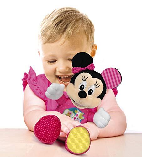 Clementoni- Baby Minnie Lightin Plush Peluche, Multicolore, 17207