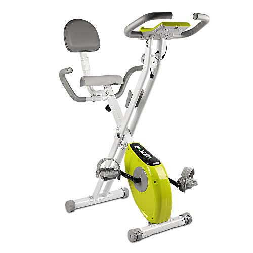 bigzzia Exercise Bike,Upright and Foldable Stationary Bike with Magnetic...