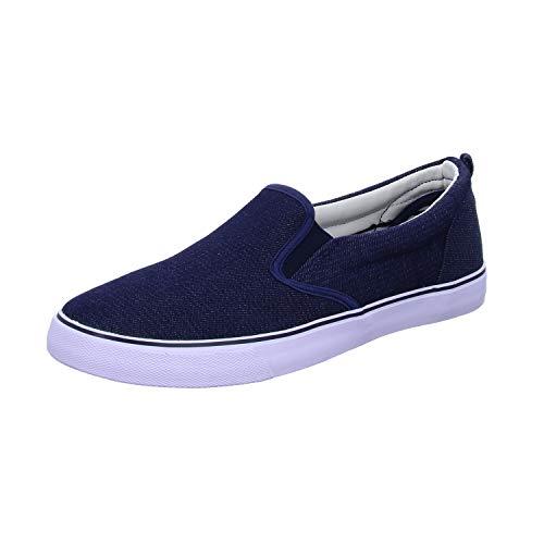 Sneakers 204344 Herren Leinen Slipper/Kletthalbschuh, Größe 44