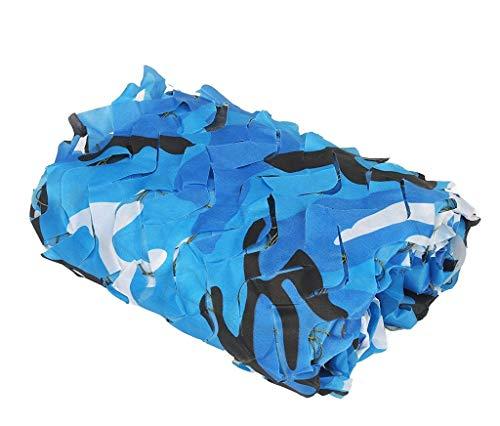 3 mt x 4 mt Armee Blau Camouflage Netting Camo Sonnenschutz Netting Auto Zelte Coverd Für Military Jagd Jalousien Schießen Häute Camo Netting Party Dekoration Pool Abdeckung Schatten 2 mt 5 mt 6 mt 8