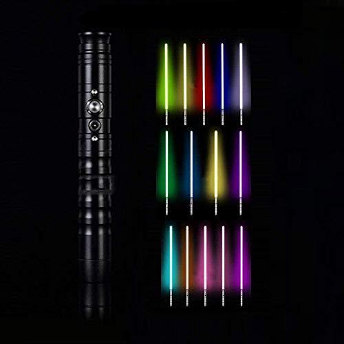 Rgb Lightsaber 11 colori variabili Star Wars Fx spade laser per bambini adulti festa festa Cosplay (hilt manico in metallo 64 cm lama)-nero