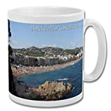 Lloret De Mar Costa Brava Spain Beach View - Taza de recuerdo de 10 oz