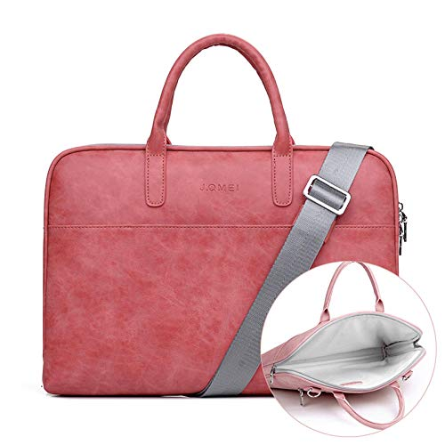 Pu Waterproof Case for Women Mens Scratch-Resistant Laptop Briefcase 13/14/15.6/17 inch Notebook Shoulder Bag-red-I_15.6 inch