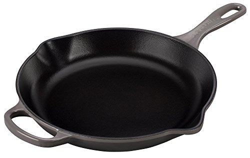 Le Creuset Signature Iron Handle Skillet, 10-1/4-Inch, Oyster
