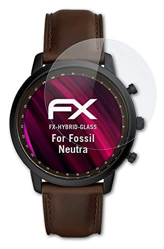 atFoliX Glasfolie kompatibel mit Fossil Neutra Panzerfolie, 9H Hybrid-Glass FX Schutzpanzer Folie