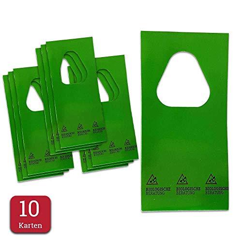 Biologisch advies sluipwespen tegen motten – natuurlijke, biologische bestrijding van kledingmotten in combi-set voor 15 vierkante meter – 10 kaarten