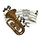 Personalized Tuba Christmas Tree Ornament 2020 - Perform Solo Hobby Large Marching Military Band Profession Teach Friend 1st Tradition Holiday Play Gift Year Classic Ensemble - Free Customization