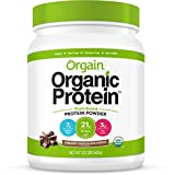 Orgain Organic Plant Based Protein Powder, Creamy Chocolate Fudge - Vegan, Low Net Carbs, Non Dairy, Gluten Free, Lactose Free, No Sugar Added, Soy Free, Kosher, 1.02 Pound (Packaging May Vary)