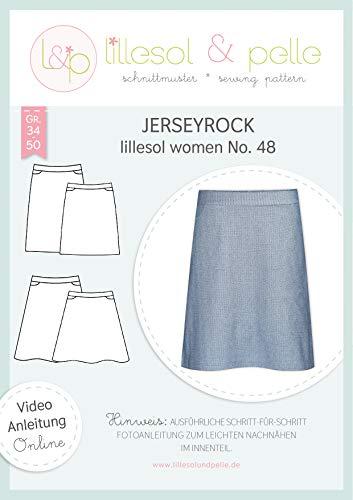lillesol & pelle Schnittmuster lillesol Women No.48 Jerseyrock in Größe 34-50 zum Nähen mit Foto-Anleitung und Video