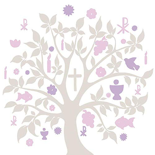Serviette Ambiente Kommunion/Konfirmation Communion SYMBOLS Motiv 2016 taupe 20 Servietten pro Packung