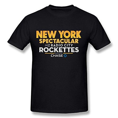 NY Christmas Spectacular Starring The Radio City Rockettes 2016 T Shirt for Men Black