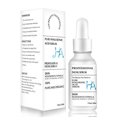 Xnuoyo Hyaluronsäure Anti Falten Gesichtsserum, Anti Aging Hyaluron Serum Pflege Konzentrat 30 ml