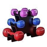 WHL Mancuernas Conjunto de 6 Pesas Mancuernas con el Estante de múltiples Pesos Set Fitness Equipment 1/2/3 kg Mancuernas de Fitness en casa