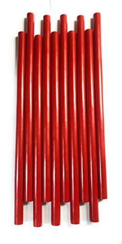 """TOP Secret PDR Summer RED Glue 10"""" Long 7/16"""" Diameter HOT Glue Sticks"""
