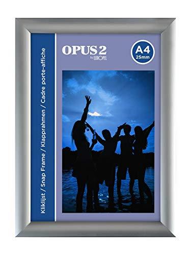 OPUS 2 - Marco Aluminio A4 sistema Easy-Click, 25