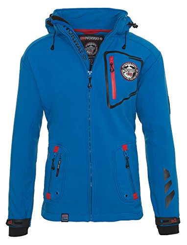 92X12 Geographical Norway Tacebook Herren Softshell Blau Gr. L