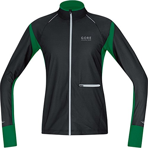 Gore Running Wear Air Windstopper WS Chaqueta de Hombre, kwairn, Hombre, Color - Black/Varsity Green, tamaño M