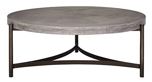 Modus Furniture Lyon Round Concrete And Metal Table, Medium