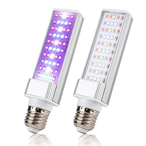 LED Indoor Plant Growth Light, Full Spectrum Plant Bulb, E27 White Daylight Bulb, Suitable for hydroponic Greenhouse Garden Plant Growth