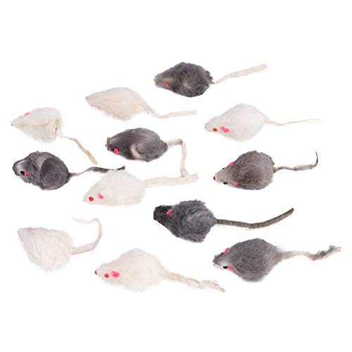 BTER Pequeño ratón de Felpa para Gatos, ratón Falso, Sonido de ratón de Juguete para Gatos, ratón Falso para Mascotas, ratón de Juguete para Gatos, para Gatitos, Gatos, Juguetes para Mascotas,