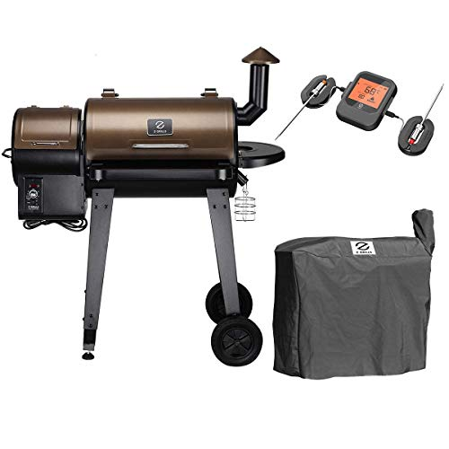 Z GRILLS ZPG-450A Wood Pellet Grill Smoker for Outdoor Cooking with Wireless Meat Probe Thermometer, 2020 Upgrade, 8-in-1 & Pid Controller (Grill+Smart Probe) Categories