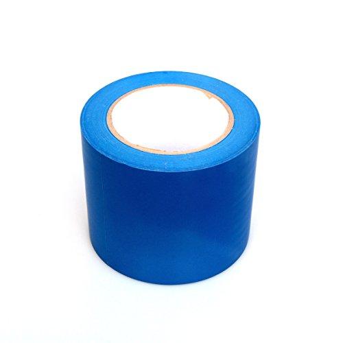 BONUS Eurotech 1BL23.44.0100/033A PVC vloermarkeringsband, lijm op rubberen basis, zacht, lengte 33 m x breedte 100 mm x dikte 0,17 mm, blauw