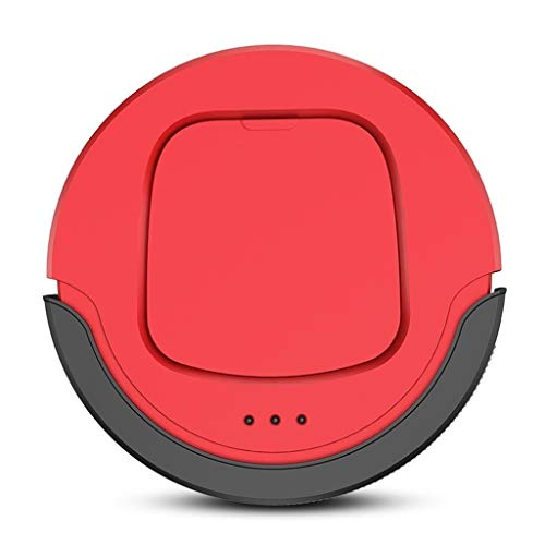 Robotic Stofzuigers Rustig Meerdere Reiniging Modes, Best Robot Stofzuigers For Pet Hair, Harde Vloer, Tapijt (Color : Red)