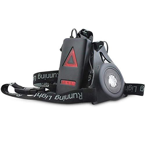 Migavan Wasserdichte Wiederaufladbare USB LED Brustlampe mit 3 Modi zum Joggen Laufen Camping Angeln Hund Wandern Outdoor Sport