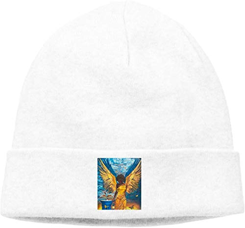 BHGYT African Woman Gold Wings Angel Unisex Winter Knitting Wool Warm Hüte Daily Slouchy Hütes Beanie Skull Hut