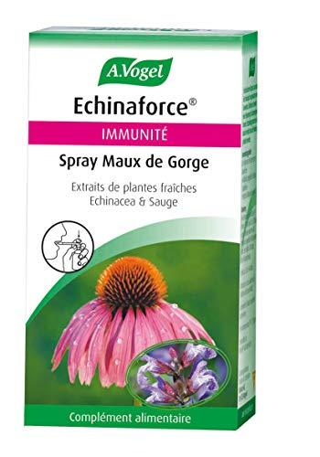 A. VOGEL - Echinaforce® Spray maux de gorge - Complément Alimentaire à Base d'Extrait de Plante Fraîche d'Échinacée Bio - Formulé pour Soutenir l'Immunité - Solution buvable 30ml - Laboratoire Suisse