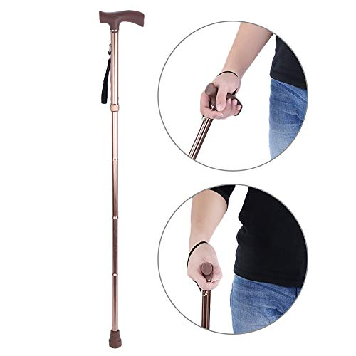 Semme opvouwbare wandelstok, verstelbare lengte legering Opvouwbare oudere veiligheid wandelstok geleiding blinde buisstok krop brons