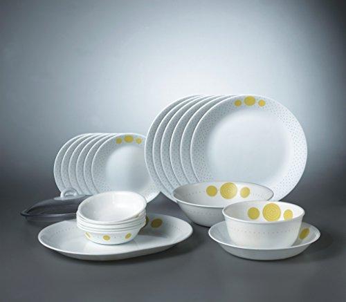 Corelle Spiral Glass 21Pcs Dinner Set, Multicolor
