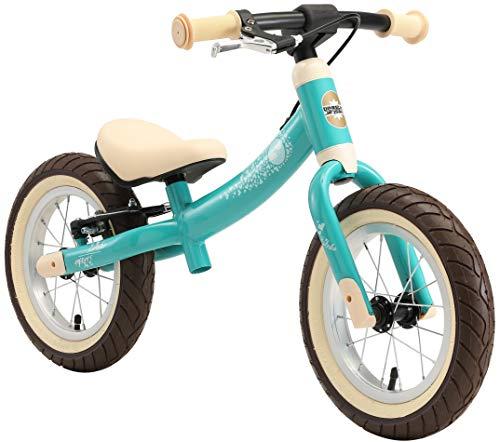 BIKESTAR Kinder Laufrad Lauflernrad Kinderrad für Jungen und Mädchen ab 3 - 4 Jahre | 12 Zoll Sport Kinderlaufrad | Türkis | Risikofrei Testen