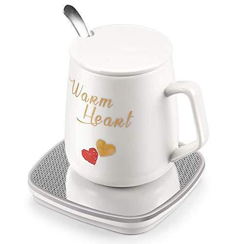 Portable Warmer Coaster Mug Warmer, Desktop Heated Coffee Tea - Candle Wax Warmer 55 Degree Coffee Pot Glass Cup Holder Heating Plate, Student Insulation Board Best Gift (Color : B)