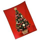 BESPORTBLE Navidad 3D Tapiz de Pared Árbol de Navidad Arte de La Pared Fondo Colgante para Sala de Estar Dormitorio Manto Chimenea Decoración 150X200cm