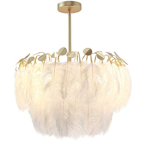 XH LIGHTING 55CM Plafond Lamp Kroonluchter Lampenkap Moderne Mode Veer Plafond Licht met Schaduw voor Woonkamer Slaapkamer Porch Bar Restaurant Hotel