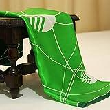 Chensd bufandas de seda pequeñas cuadradas bufandas carrera regalo bufanda verde verde claro