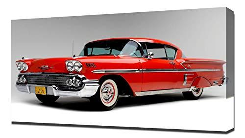 1958 Chevrolet Bel Air Impala V1 - Canvas Art Print - Wall Art - Canvas Wrap