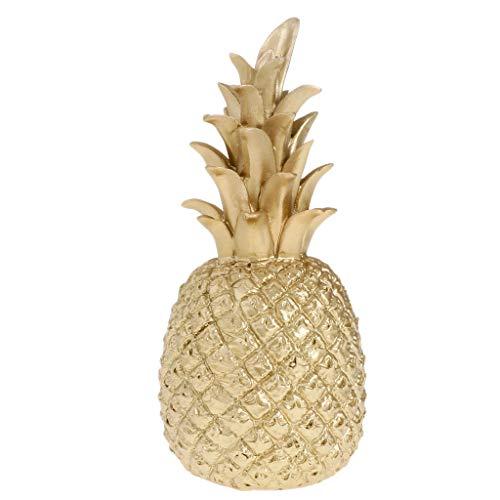 KESOTO Golden Künstliche Ananas Kunstobst Dekoobst Obst Deko - 9x9x25cm