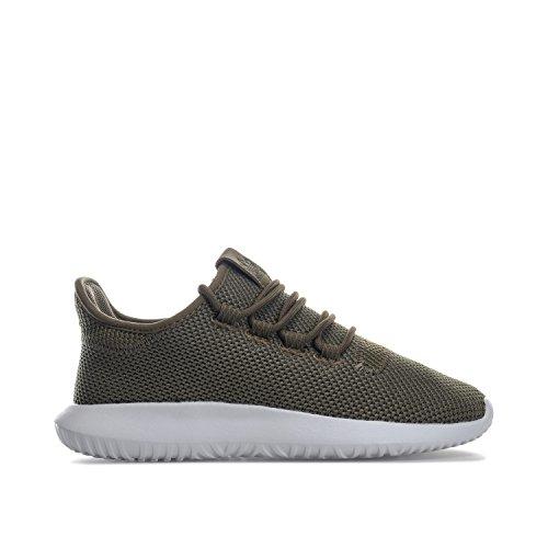 adidas Jungen Originals Junior Jungen Tubular Shadow Knit Sneaker in Khaki – EU 36