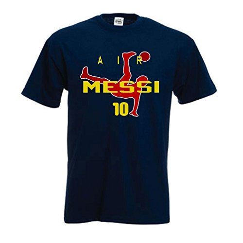 SMARTZONE Lionel Messi FC Barcelona Soccer Fan Air Messi T-Shirt Adult X-Large