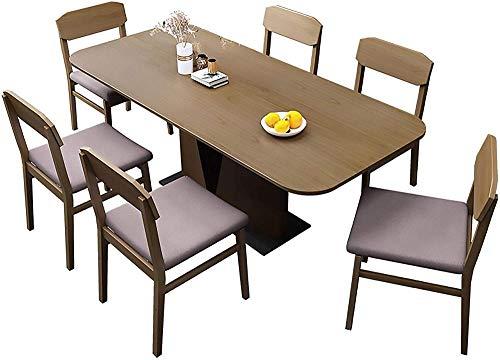MUY Esstisch Massivholz Esstisch und Stuhl Kombination 9-teiliges Set quadratischer Esstisch Küchenmöbel 140 x 80 x 76 cm 1 Tisch 4 Stühle 1 Tisch 4 Stühle 1 Tisch 4 Stühle