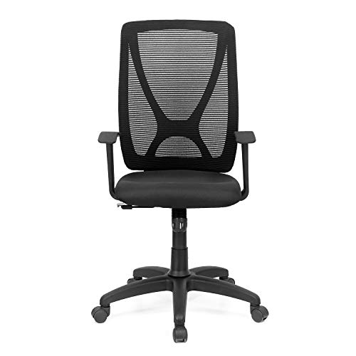 Nilkamal Volga Mid Back Mesh Chair, Black